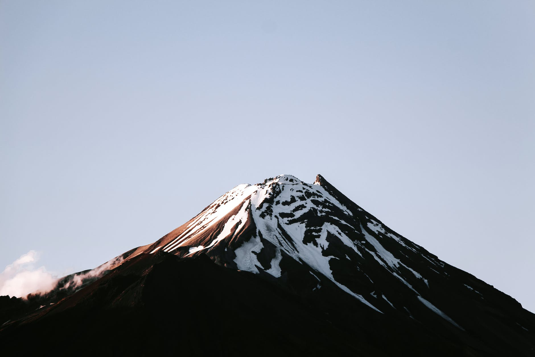 brown and white mountain
